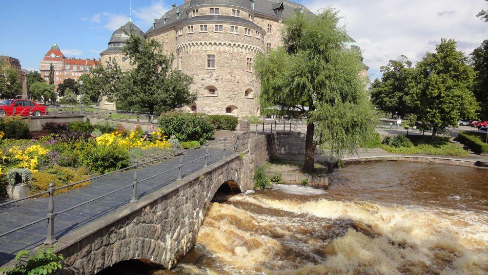 Svartån vid slottet Örebro