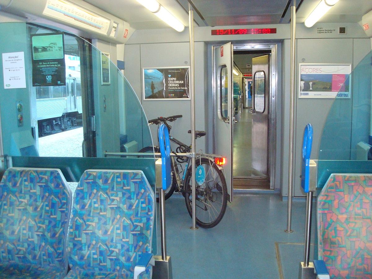 med cykeln på tåget nov 2009