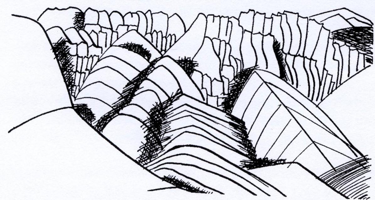 bergen i Afghanistan (GUN KESSLE ritade)